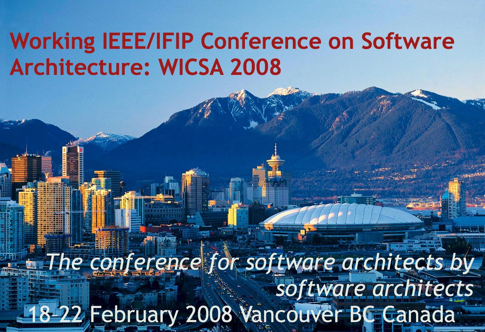 WICSA 2008 18-22 February 2008, Vancouver, BC